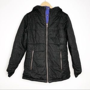 REI Reversible Insulated Jacket Charcoal and Blue